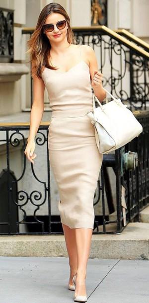 xbofh3-l-610x610-dress-miranda+kerr-nude-nude+dress-midi-midi+dress-bodycon-bodycon+dress-celebrity-celebrity+style-celebstyle-celebrit